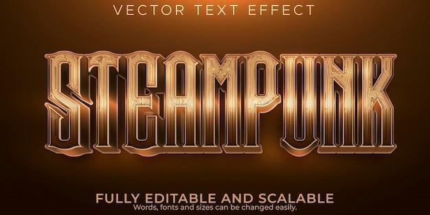 Steampunk 텍스트 효과; 편집 가능한 기록 및 이전 텍스트 스타일