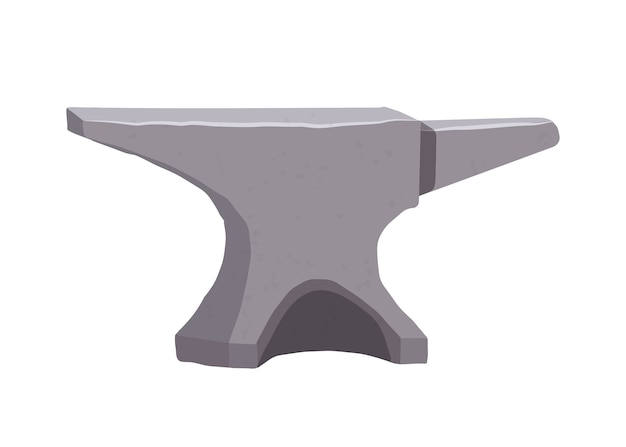 Steel anvil. iron. blacksmithing. craft. handmade work.  in flat style.