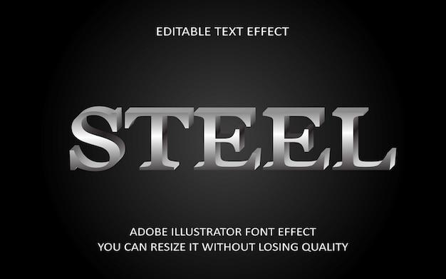 Steel editable text effect