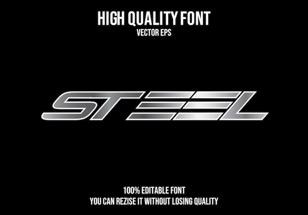 Steel editable text effect