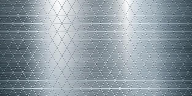 Steel geometric metal texture large banner realistic illustration