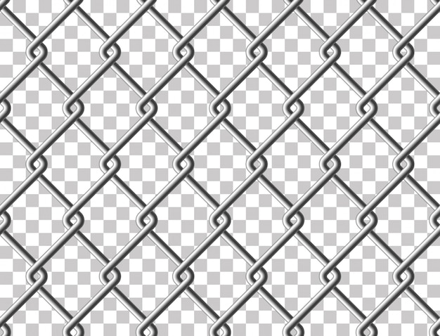 Steel mesh metal fence seamless transparent structure