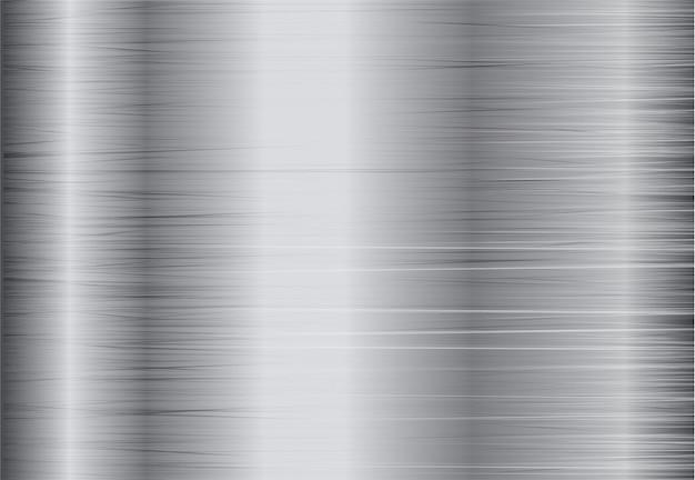 Стальной серебряный фон