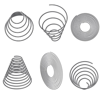 Steel springs. spiral spring set.