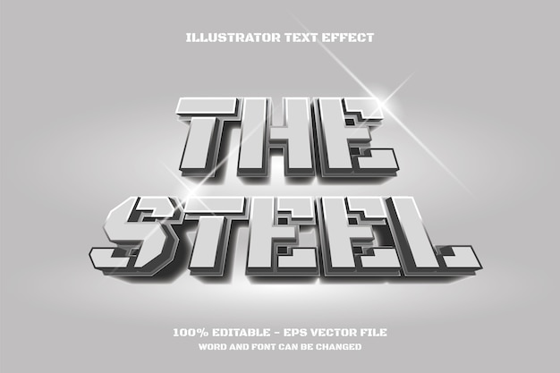 The steel text effect
