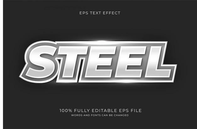 Steel text effect
