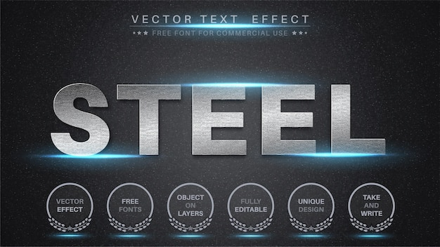 Steel text effect