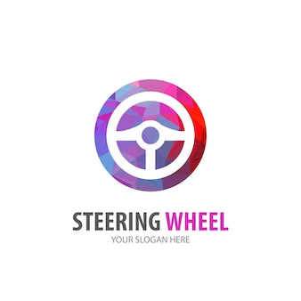 Steering wheel logo for business company. simple steering wheel logotype idea design. corporate identity concept. creative steering wheel icon from accessories collection.