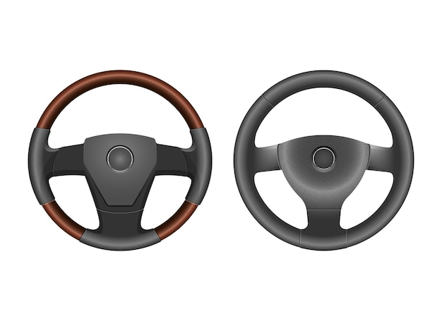 Steering wheel vector design illustration isolated on white background