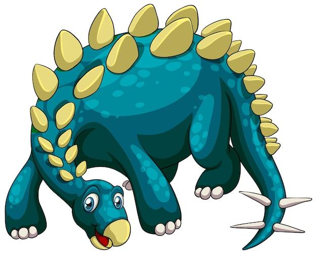 A stegosaurus dinosaur cartoon character