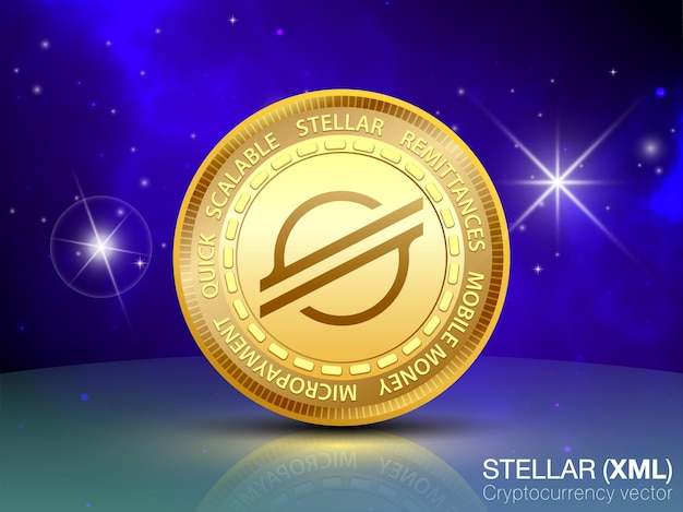 Stellar coin cryptocurrency vector