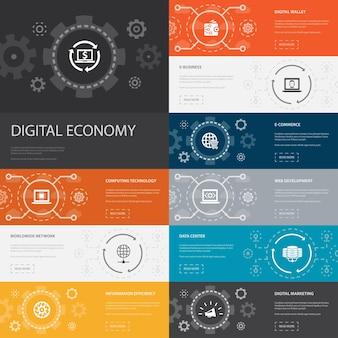 Дизайн линии шаблона инфографики stem с иконами науки, техники, инженерии, математики
