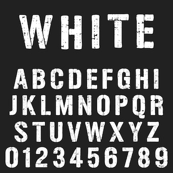 Stencil alphabet font template