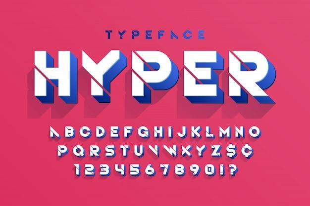 스텐실 미래 공상 과학 알파벳, 창조적 인 문자 집합입니다.