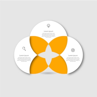 Step business infographic design presentation template