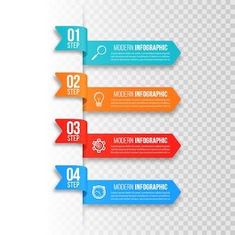 ビジネスプレゼンテーションのためのステップビジネスインフォグラフィック