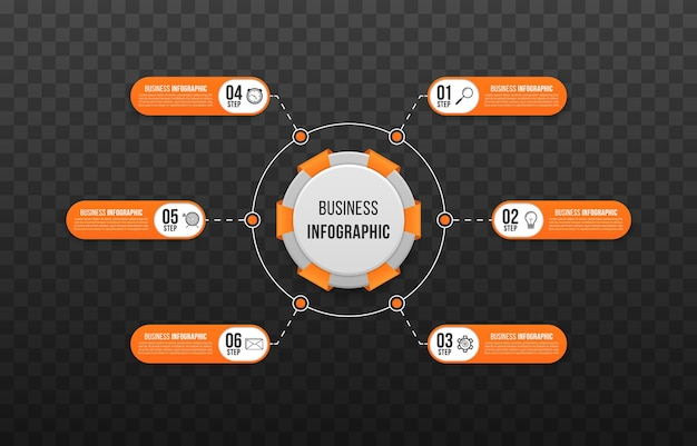 비즈니스 프레 젠 테이 션 웹 사이트 순서도에 대 한 단계 비즈니스 infographic 템플릿