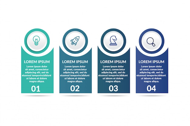 Step infographic template for presentation