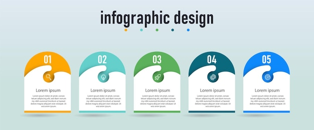 Step infographic workflow chart number infographic process step chart with line icons information concept illustration of step information chart and infographic