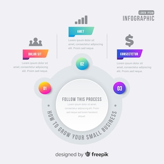 Step infographic