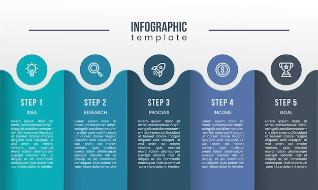 Шаг вариант точка инфографика дизайн