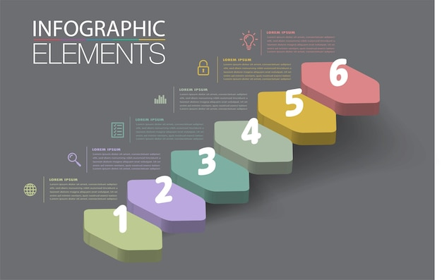 Step up of business successful concept infographic vector