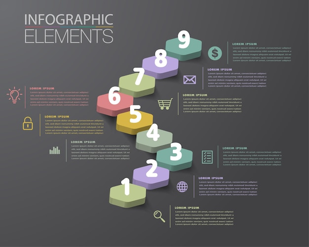 Step up of business successful concept stair infographic vector