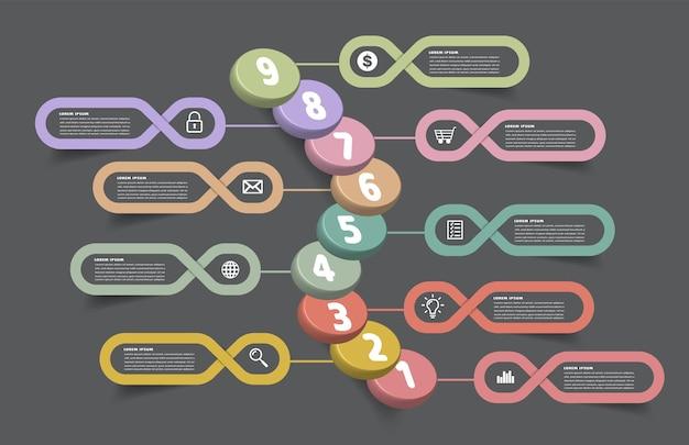 비즈니스 성공적인 개념 인포 그래픽 벡터의 단계