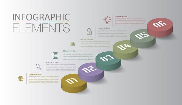 Шаг вперед бизнес успешной концепции инфографики вектор