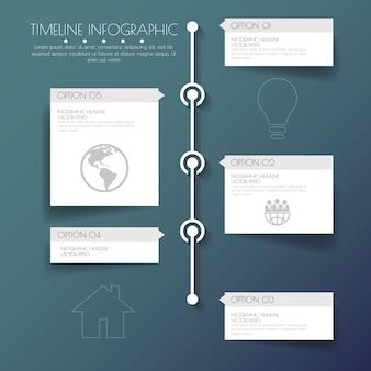 Stepdesign flat long shadow clean number timeline templategraphic or websitevectorillustration