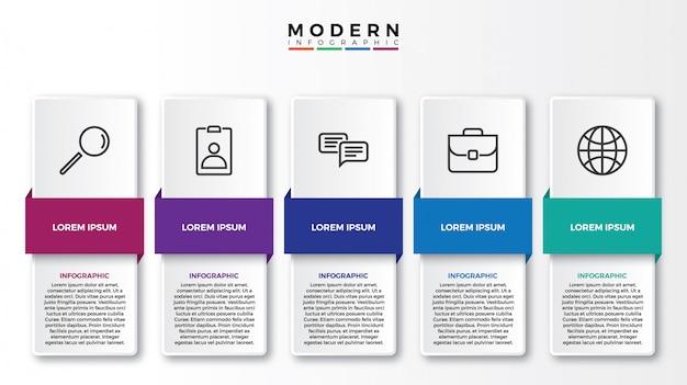 Steps business elements presentation