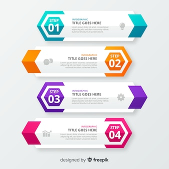 Steps business infographic template