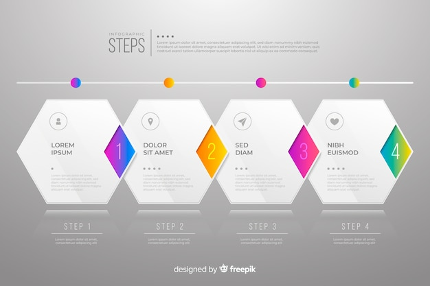 Steps business infographic