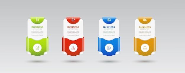 Шаги бизнес инфографики дизайн