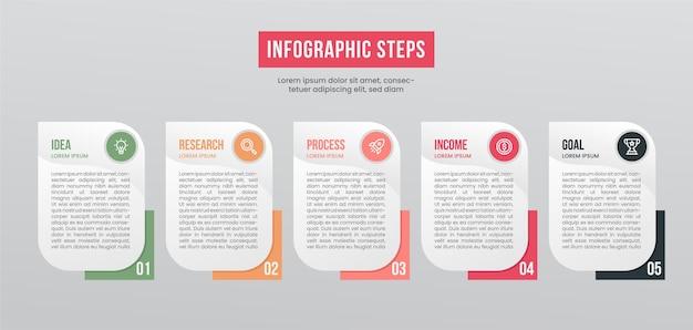 Элементы инфографики диаграммы шагов