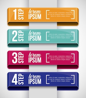 Steps icon. infographic data information and options theme. colorful design. vector illustration