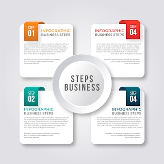 Steps infographic concept with evolution