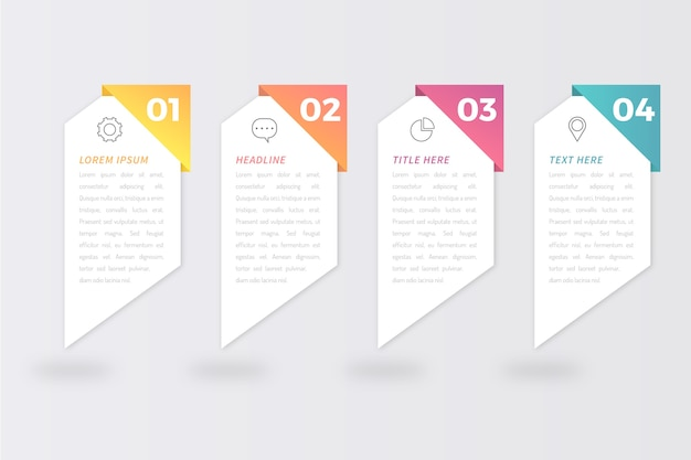Steps infographics concept
