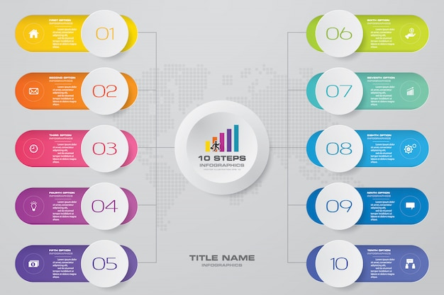 Steps infographics element template chart for presentation.