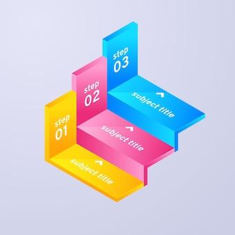 手順インフォグラフィックのコンセプト