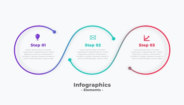 Steps modern circular connecting infographic template