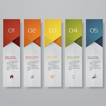 Steps option banner for presentation.