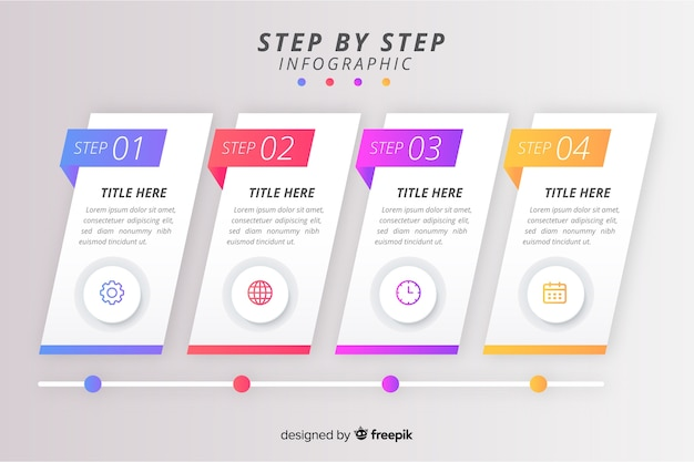 Steps professional infographic