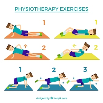 Steps for rehabilitation exercises
