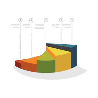 Steps template for presentation, growth, progress, annual profit concept