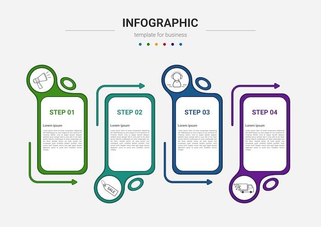 Steps timeline business process infographics element template design