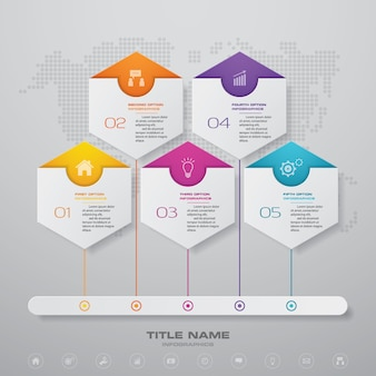 Steps timeline infographic element chart.