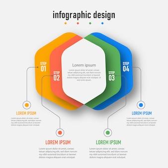 ステップタイムラインインフォグラフィックデザインテンプレート
