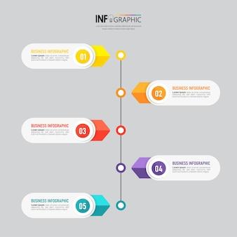 Steps timeline infographics design template
