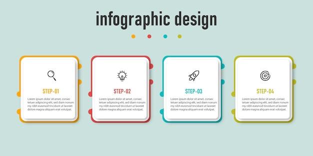 Дизайн инфографики временной шкалы шагов